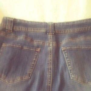 St. John's Bay Skirts - St Johns Bay below the knee modest denim skirt 12